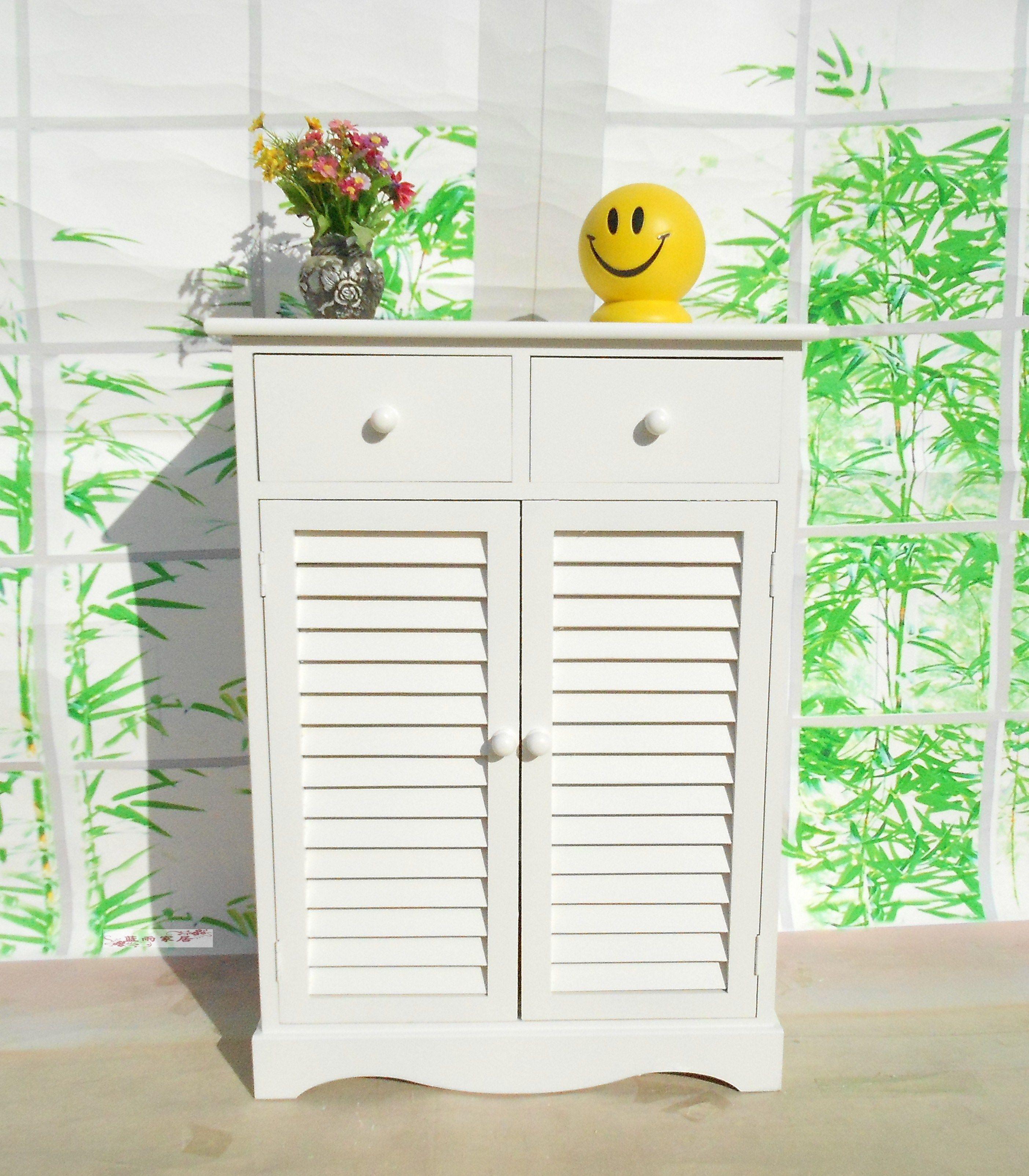 Wood For Shoe Fashion Living Room Cabinet Rustic Storage Shutter Door Kitchen Drawer