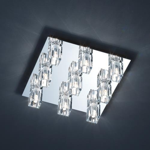 Hochwertige Deckenleuchte Mila 9flg Mit Kristallglas Lampen Mit