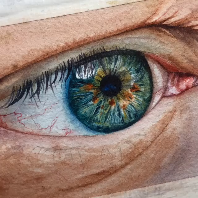 Eye watercolor painting