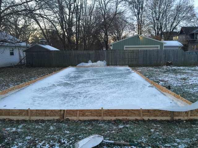 My 20x40 DIY Ice Rink for less than $150   Backyard ...