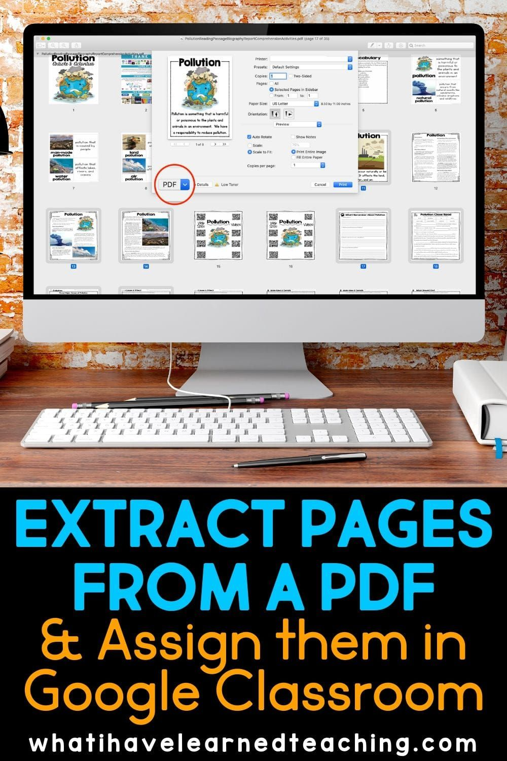 How To Extract Specific Pages From A Pdf And Place Them In Google Slides Google Classroom Google Classroom Elementary Google Classroom Resources