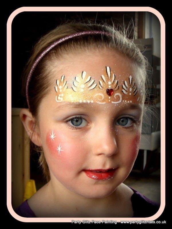 tiara face paint facepaint pinterest kinder schminken kinderschminken und kreativ. Black Bedroom Furniture Sets. Home Design Ideas