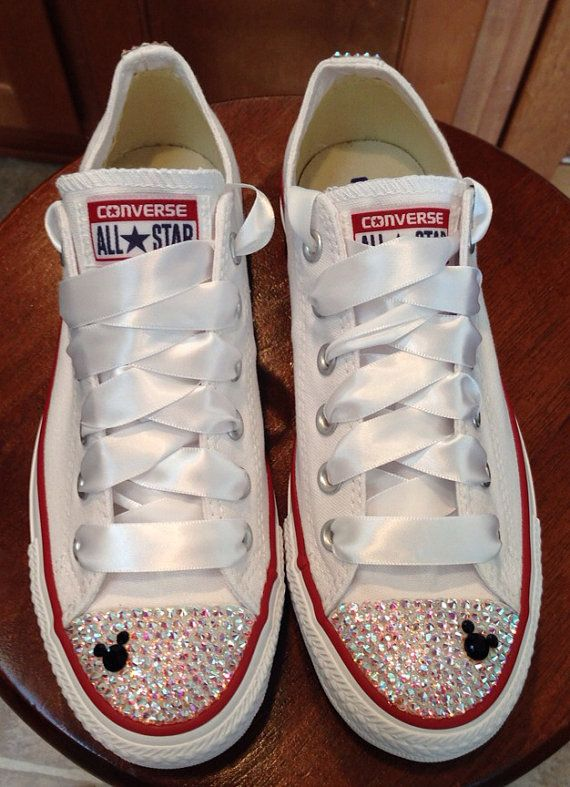ff3b1cd6dfa2 Mickey Mouse ADULT bling Converse by Munchkenzz on Etsy