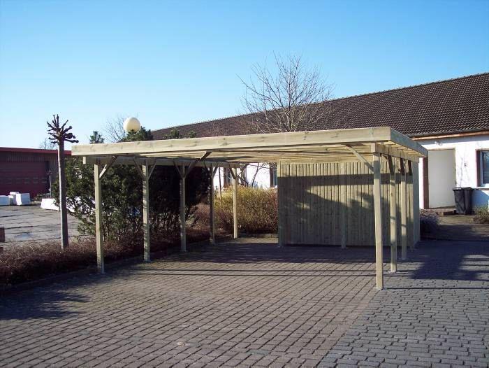 Dobbeltcarport Model Bonn Med Redskabsrum Huse Skur Carport