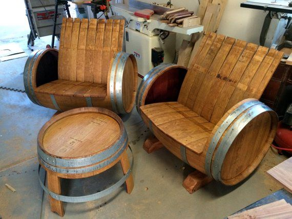 The Crew (2 Wine Barrel Chairs & 1 Table)