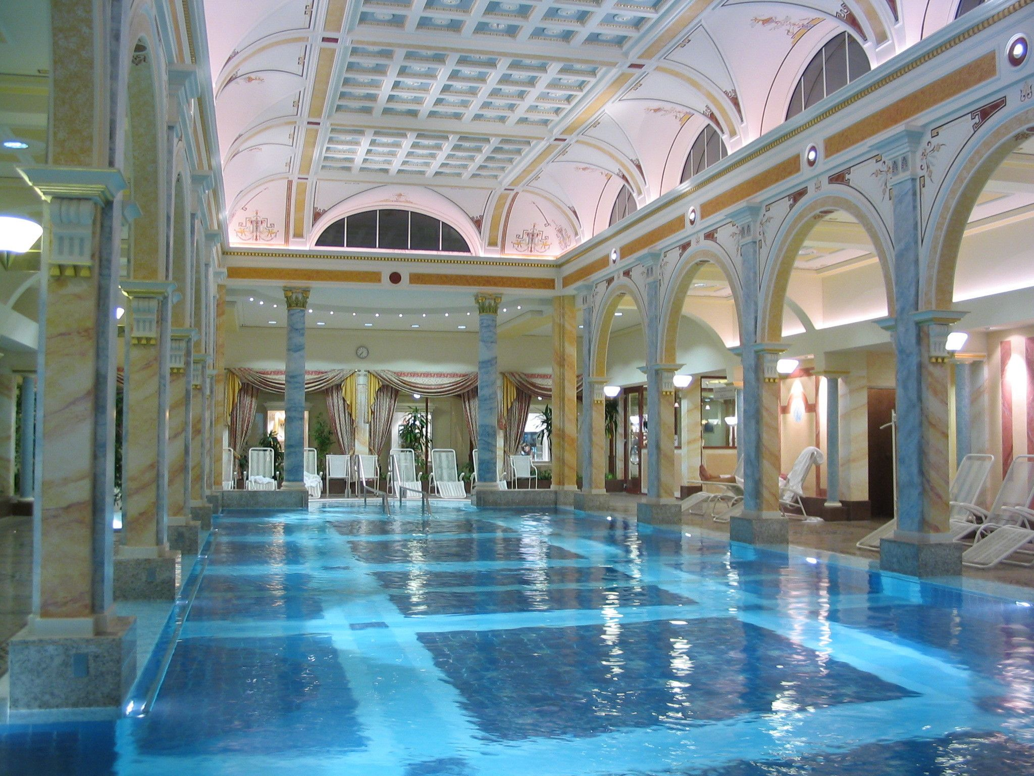 Image search indoor pools sweet home luxury house with for Luxury swimming pools