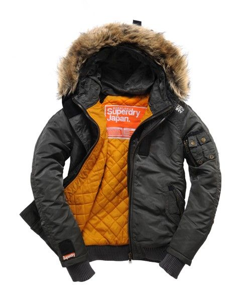 superdry dakota hooded bomber. | /Fashion/ | Pinterest | Jackets ...