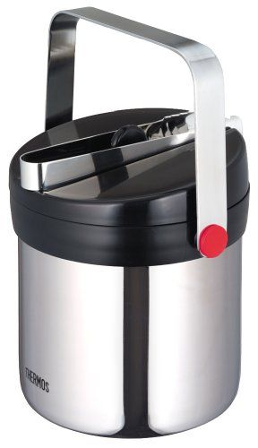 thermos vacuum insulated ice bucket 13l stainless black jin1300 sbk