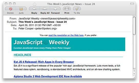 Javascript Weekly A Free Weekly Email Newsletter Linkedin