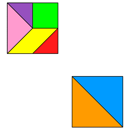 tangram two squares tangram solution 52 providing teachers and pupils with tangram puzzle