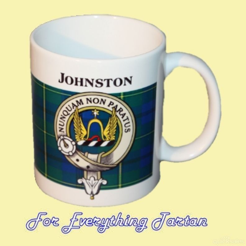 Johnston Tartan Clan Crest Ceramic Mug Clan Badge Johnston by JMB7339 - $29.00