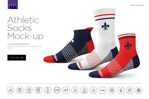 Athletic Socks Mock Up Athletic Socks Socks Athletic