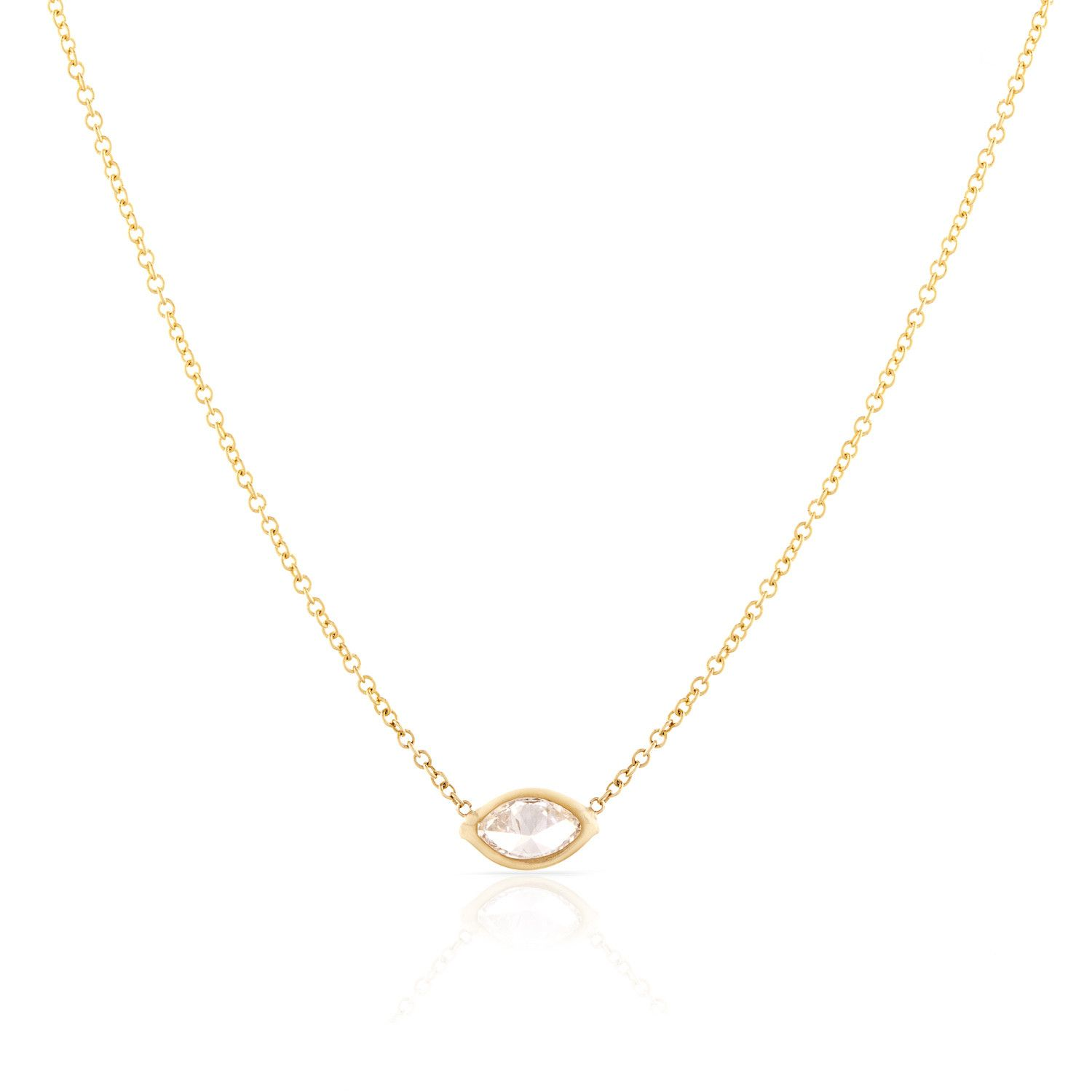 products schweitzer necklace natasha gold mini marquise yellow pendant diamond