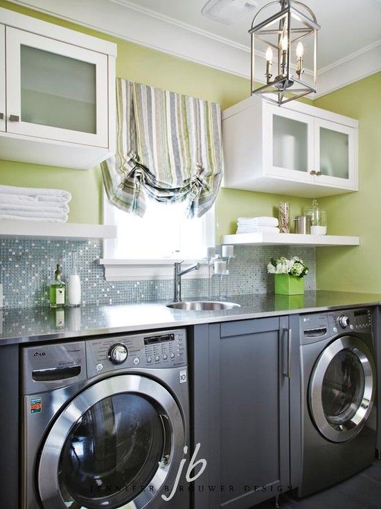 Different colors but great layout Laundry Rooms Pinterest