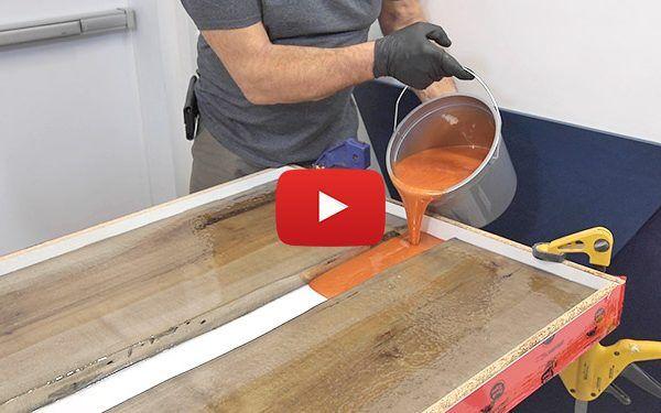 Comment faire une table rivière en époxy de moulage - Blog de Colobar Peinture & Décoration