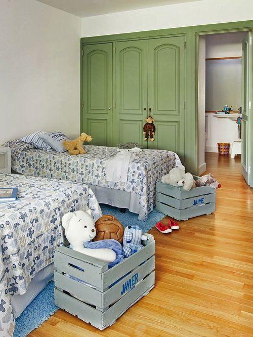 Cassette della frutta #riuso #riciclo   Camera da letto ...