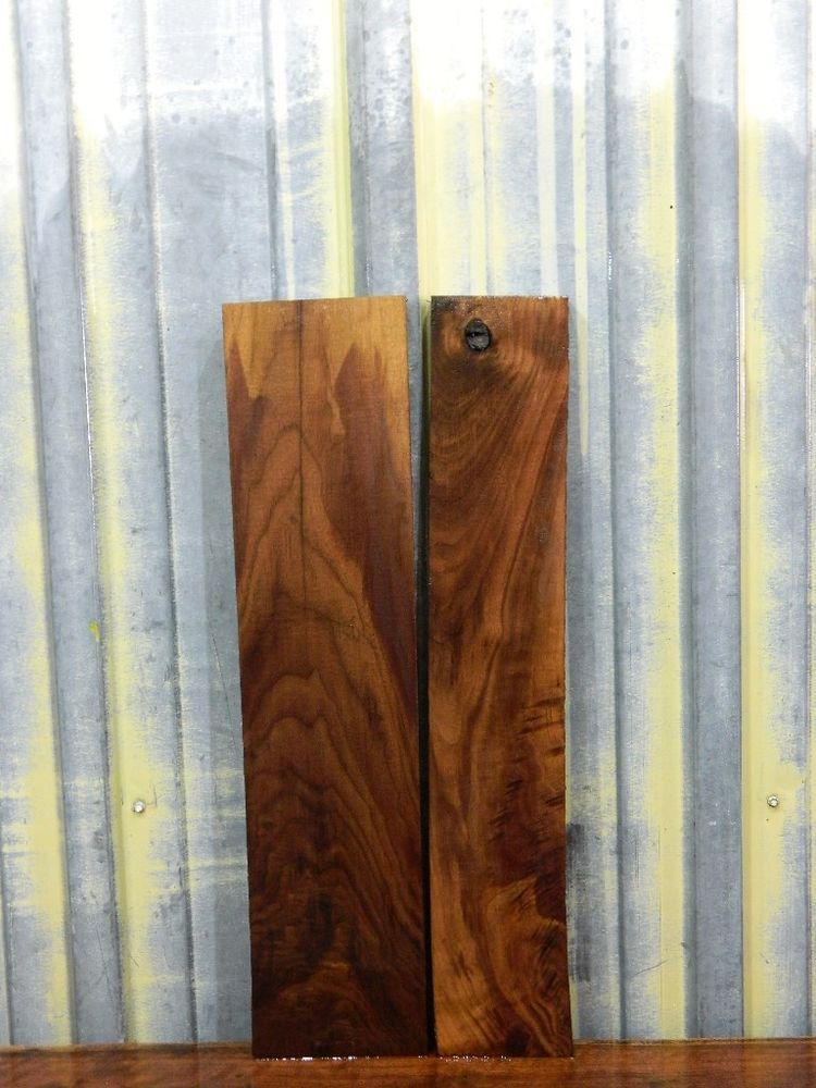 2 Figured Rustic Black Walnut Lumber Boards Reclaimed Wood 5463 5464