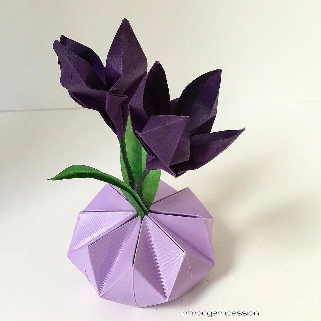 Tiny Ikebana Moment Nlm Origami Passion Flowers Pinterest