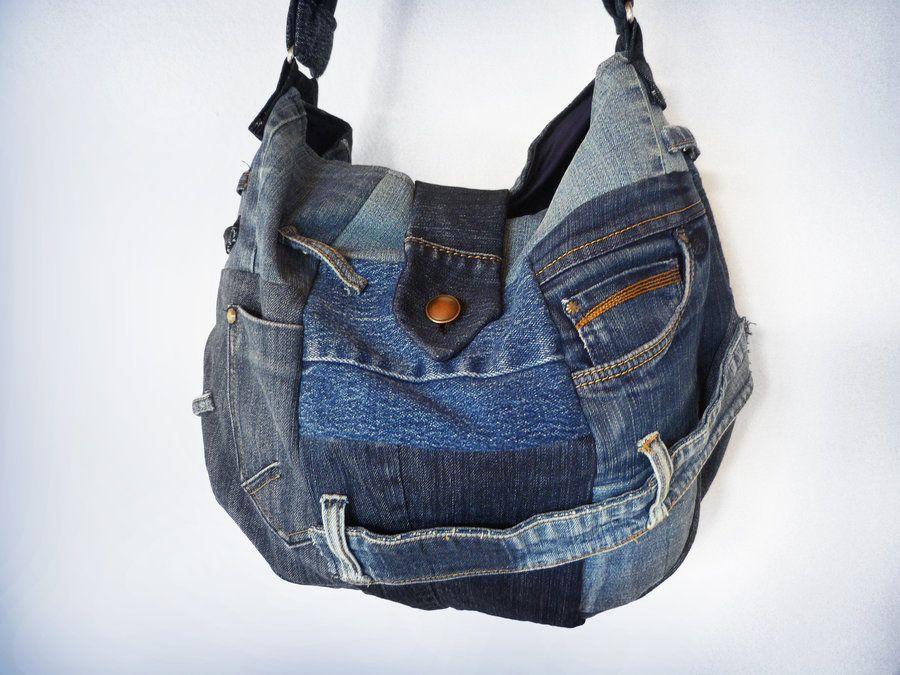 Small Jeans Patchwork Sling Bag by *ajnataya on deviantART ...
