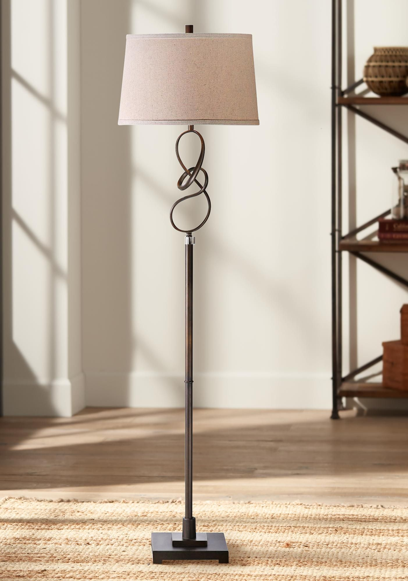 Uttermost 64 And One Half Inchh Tenley Oil Rubbed Bronze Twist Floor Lamp Di 2020
