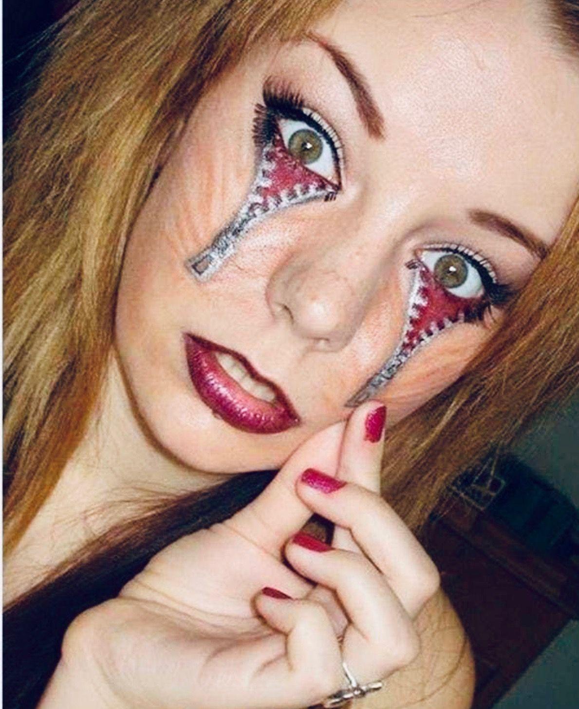 Tattoos gone wrong, Girls makeup, Zipper face