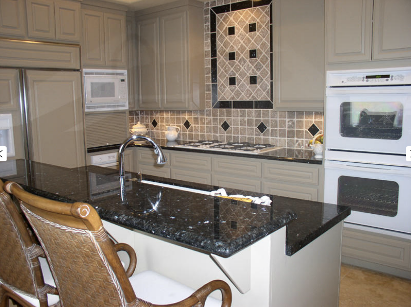 pin finished installed kitchen granite island countertop granix blue pearl