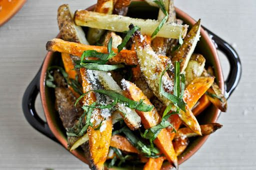 oven crisped parmesan and sage truffle fries recipe truffle fries food homemade french fries pinterest