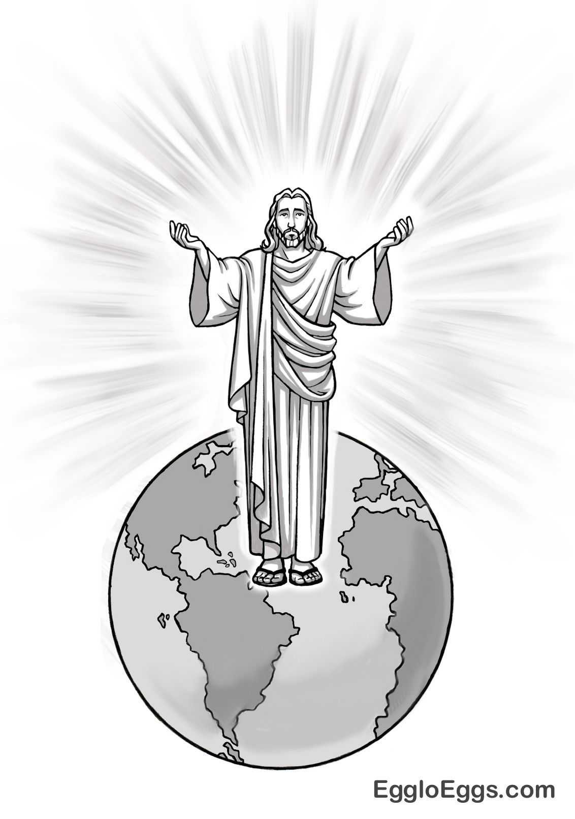 jesus is the light of the world coloring page or graphic from egglo eggs