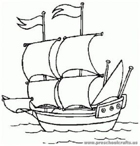 Columbus Day Coloring Pages for Kids - Preschool and ...