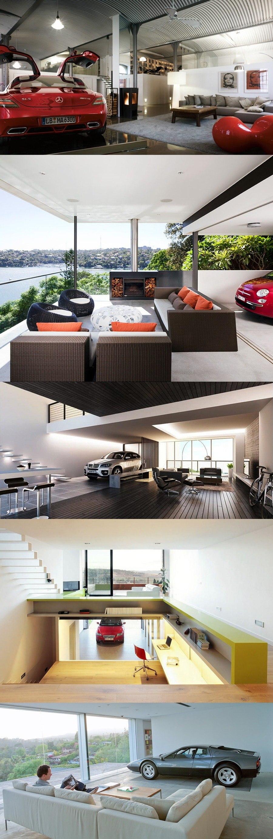 Casas con garajes en el salón / https://proyectos.habitissimo.es