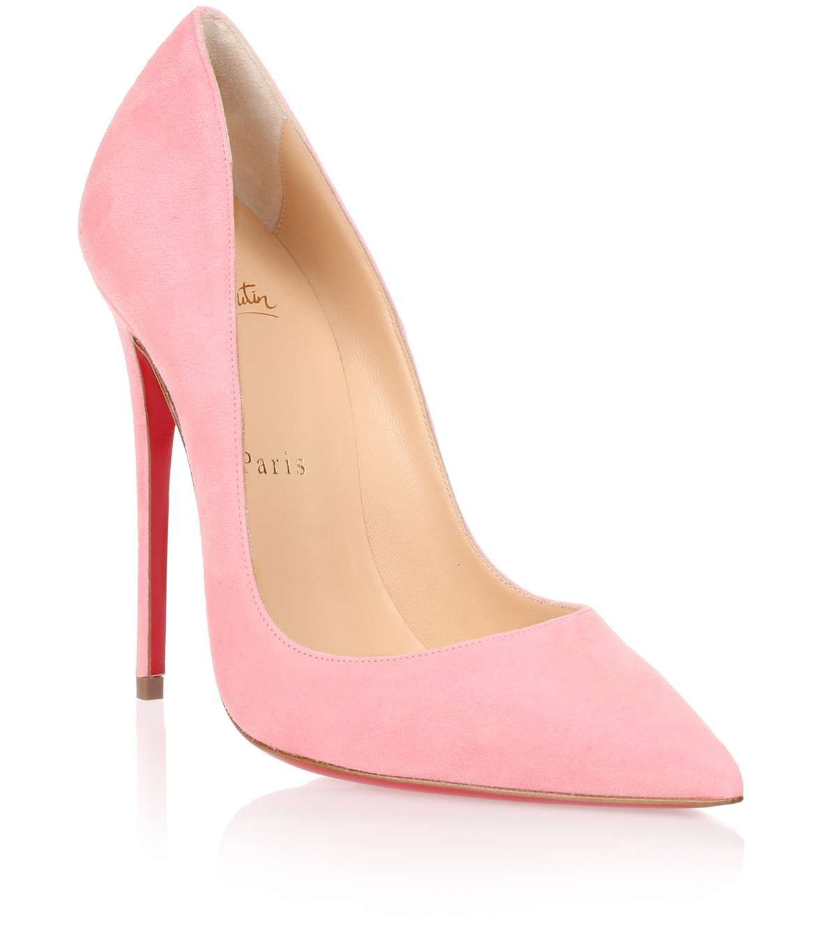 christian louboutin light pink shoes