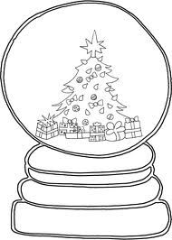 drawing snow globes - Google Search   Christmas tree coloring page, Christmas coloring pages ...