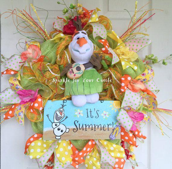 Photo of Items similar to Olaf Summer Wreath, Frozen Wreath, Summer Wreath on Etsy