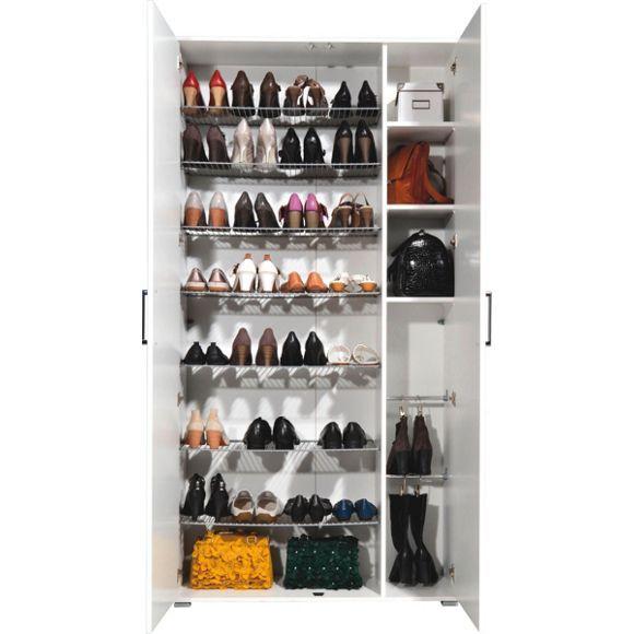 schuhschrank wei schuhschr nke sandalen und stiefel. Black Bedroom Furniture Sets. Home Design Ideas