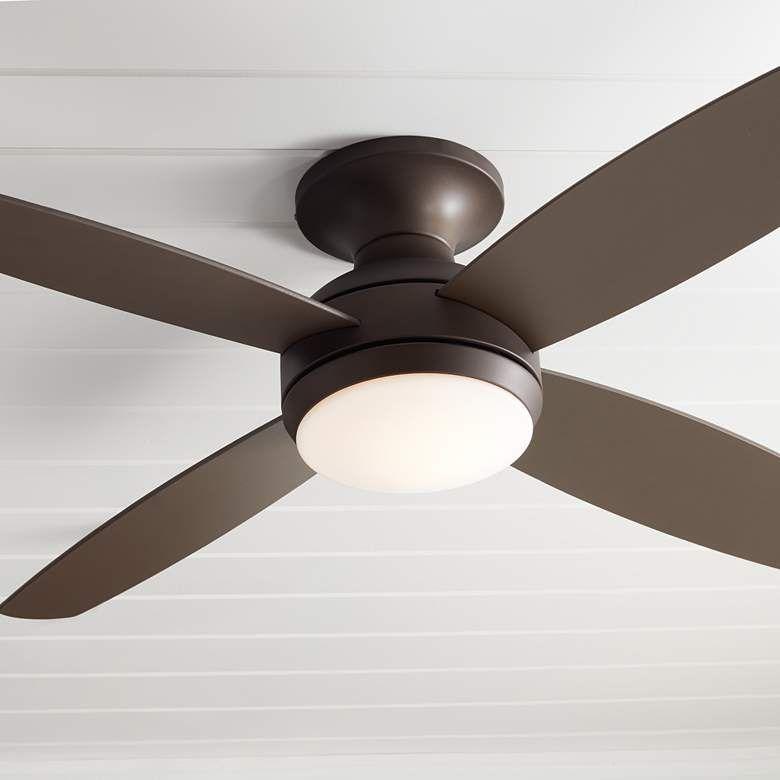 52 Casa Elite Oil Rubbed Bronze Led Hugger Ceiling Fan 8y398 Lamps Plus With Images Hugger Ceiling Fan Ceiling Fan With Light Flush Ceiling Fans