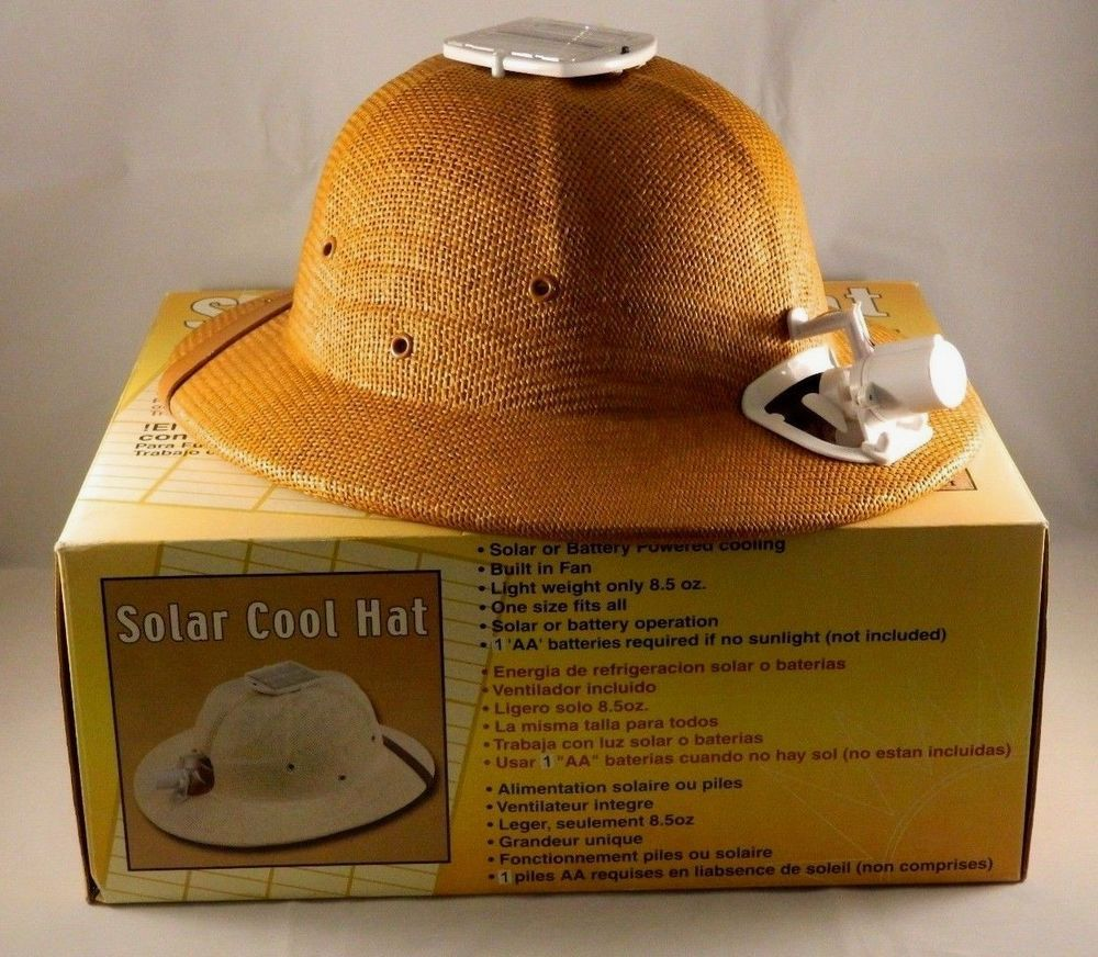Sun-Mate Solar Cool Hat Safari Style Solar-powered Fan Fishing Gardening  Helmet  SunMate 7c4c550f619