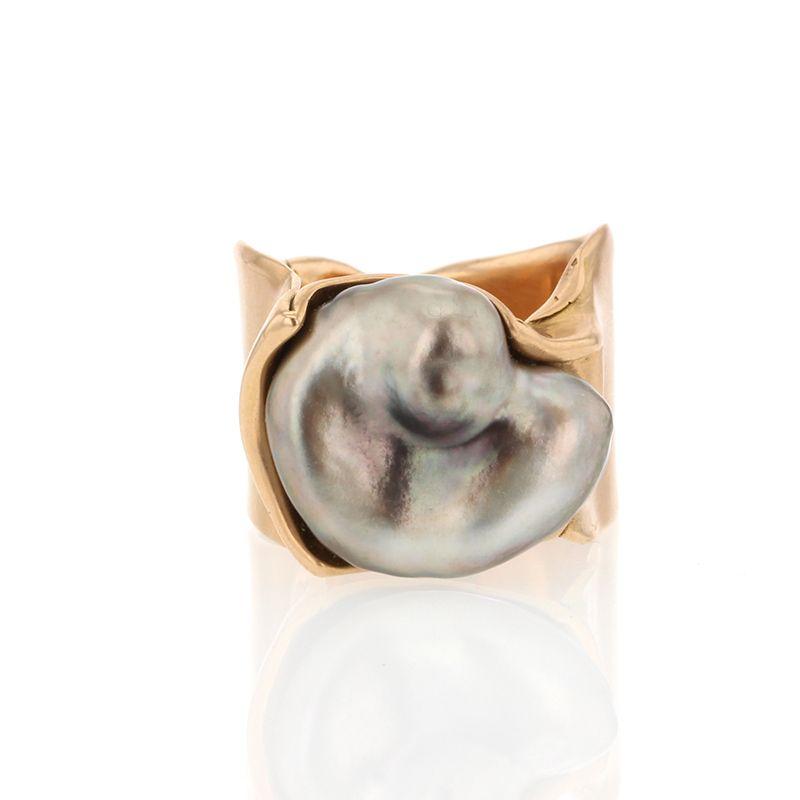 Tahitian Pearl Rose Gold Ring
