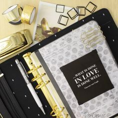 black and gold kikki k planner tumblr - Google Search