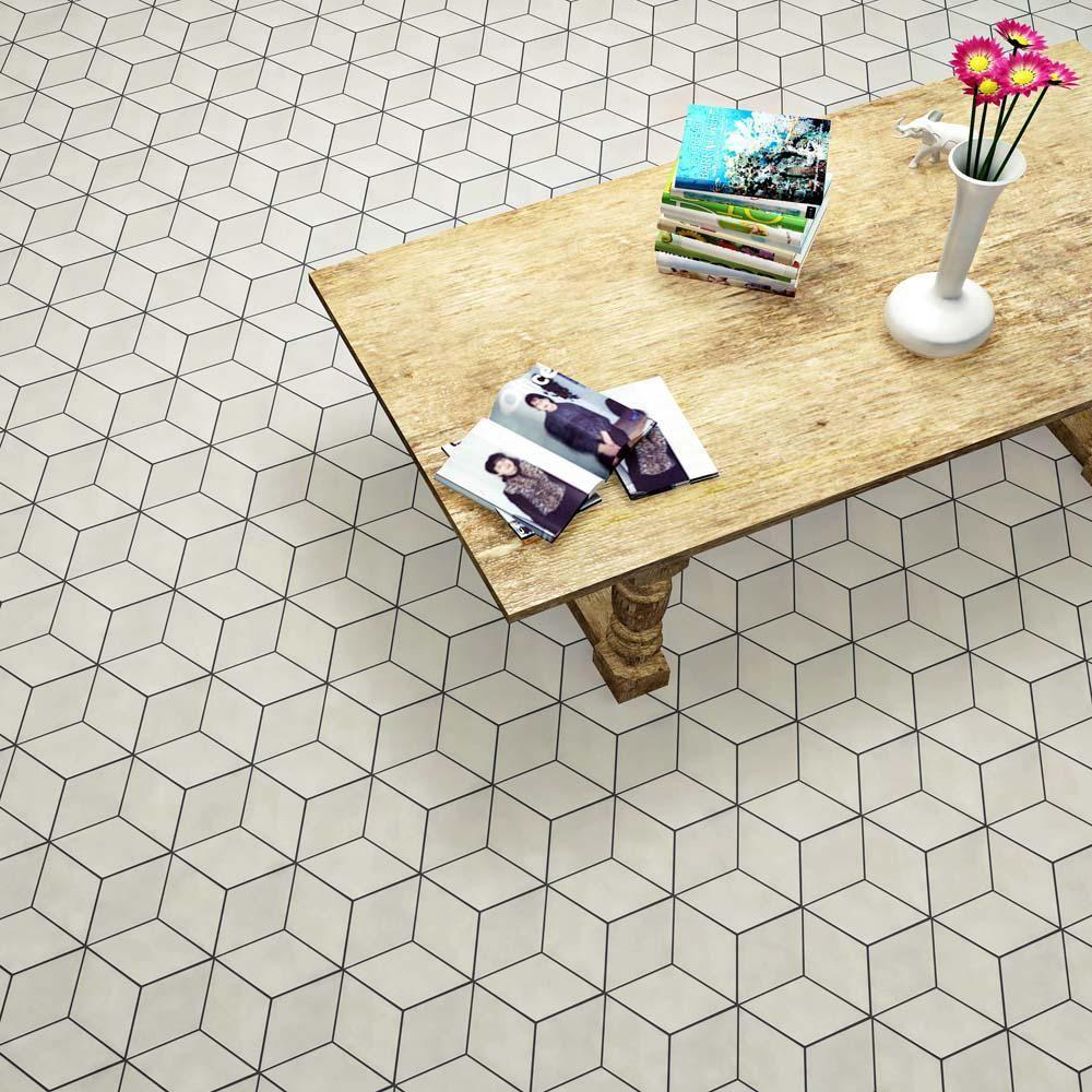 Merola Tile Concret Rombo Big Ben 8 7 8 In X 10 1 8 In Porcelain Floor And Wall Tile Fnu9crbb Porcelain Flooring Tiles Floor And Wall Tile