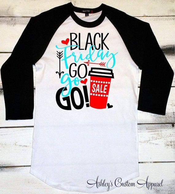 Black Friday Shirts Holiday Shopping Black by AshleysCustomApparel