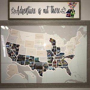 Personalized 50 States Photo Map - A Unique USA Travel Collage #usatravel