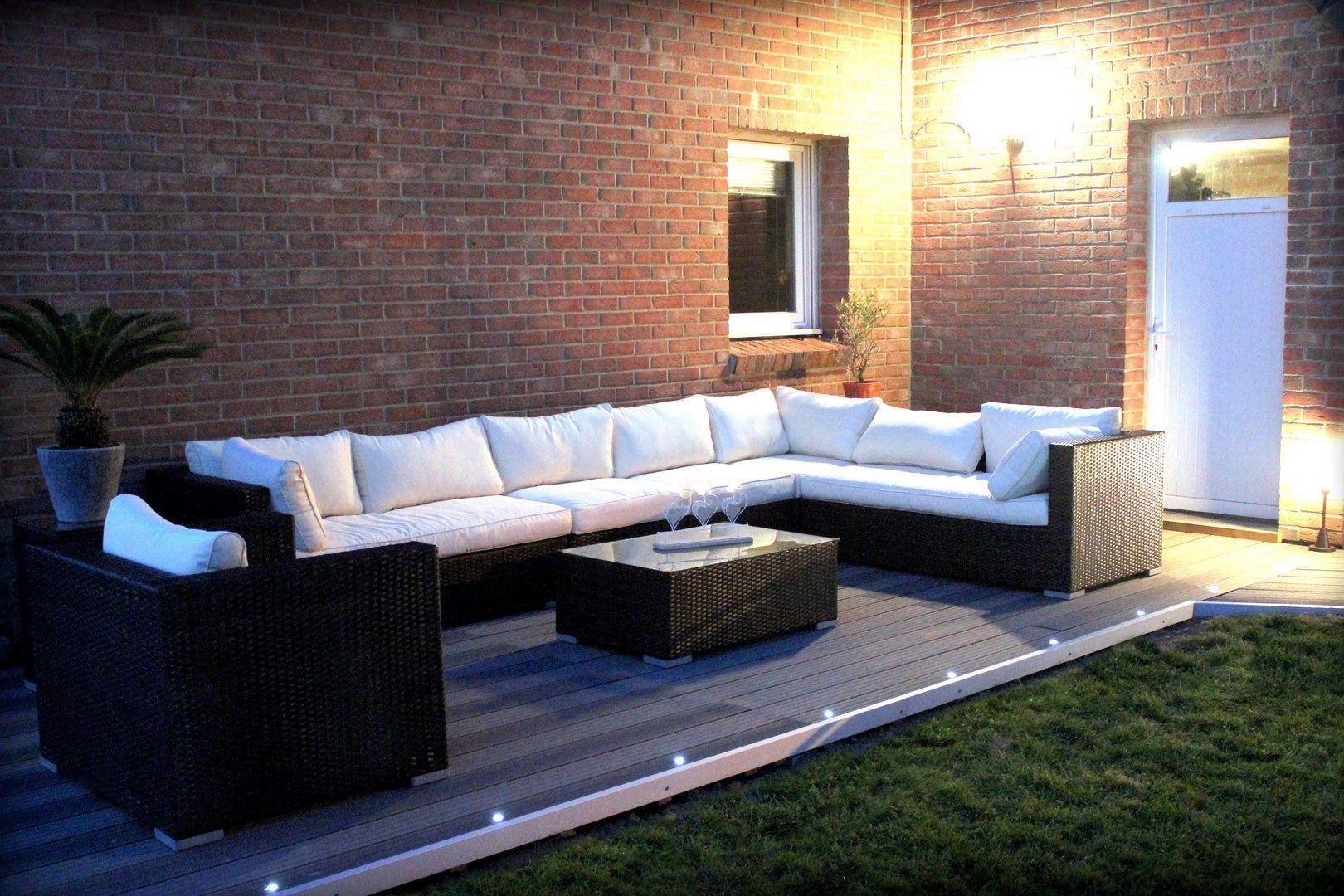 Salon de jardin 10/11 places en résine tressée Venezia Alice\'s ...