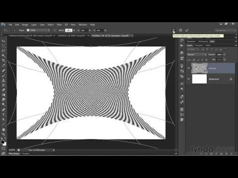 Photoshop tutorial: Op art experiment: Inflated checkers