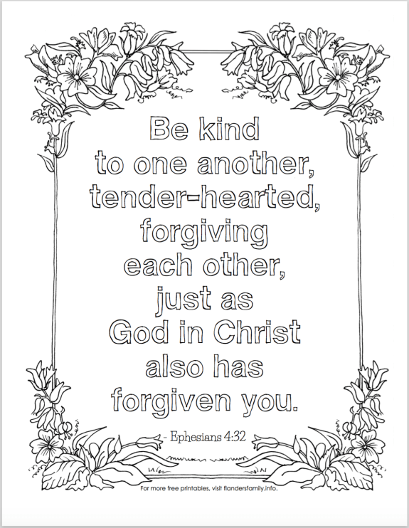"""Today\'s coloring page is in honor of """"Forgiveness Day"""" — which ..."""
