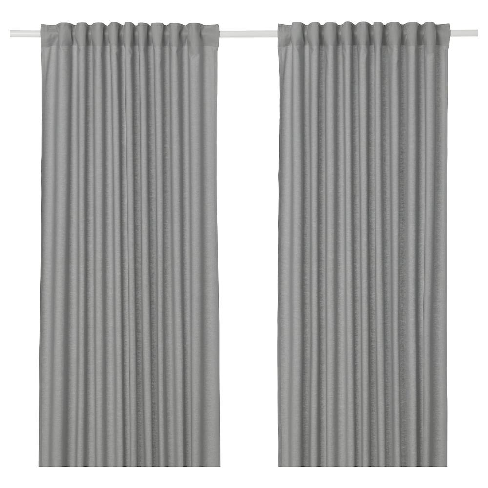 Ikea Annalouisa Gray Curtains 1 Pair In 2020 Curtains Double