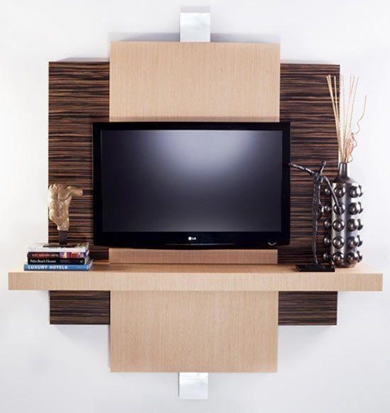 muebles modernos para televisión #tvwallmountdiy TV Mounting Ideas