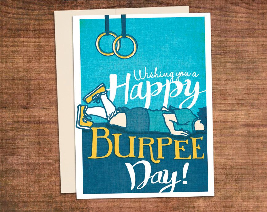Crossfit birthday burpee card happy burpee day customized crossfit birthday burpee card happy burpee day customized customizabble fitness gym greeting card by powersnowdesigns on etsy m4hsunfo