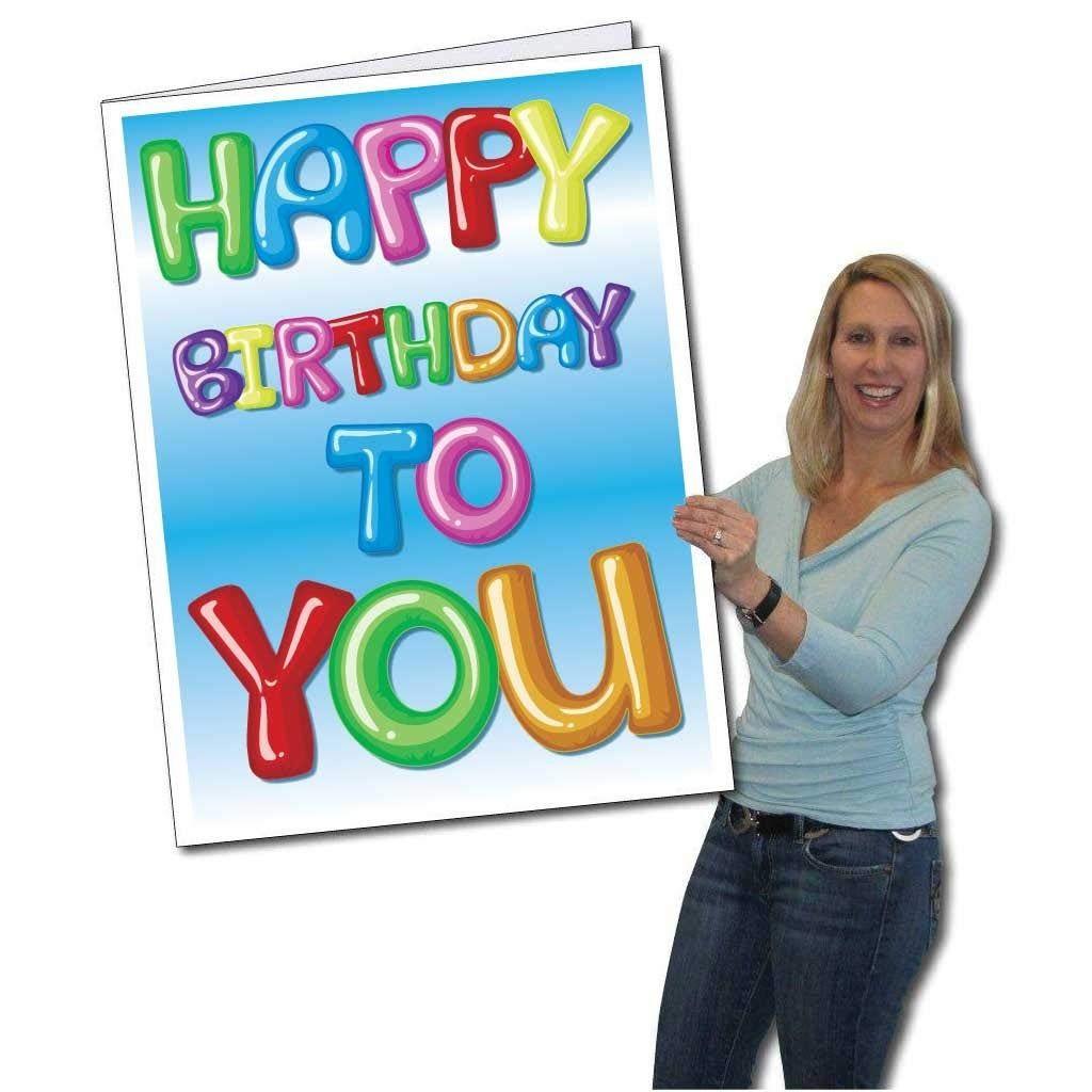 Jumbo Greeting Cards: Giant Birthday Card (Balloon Letters) 8 feet