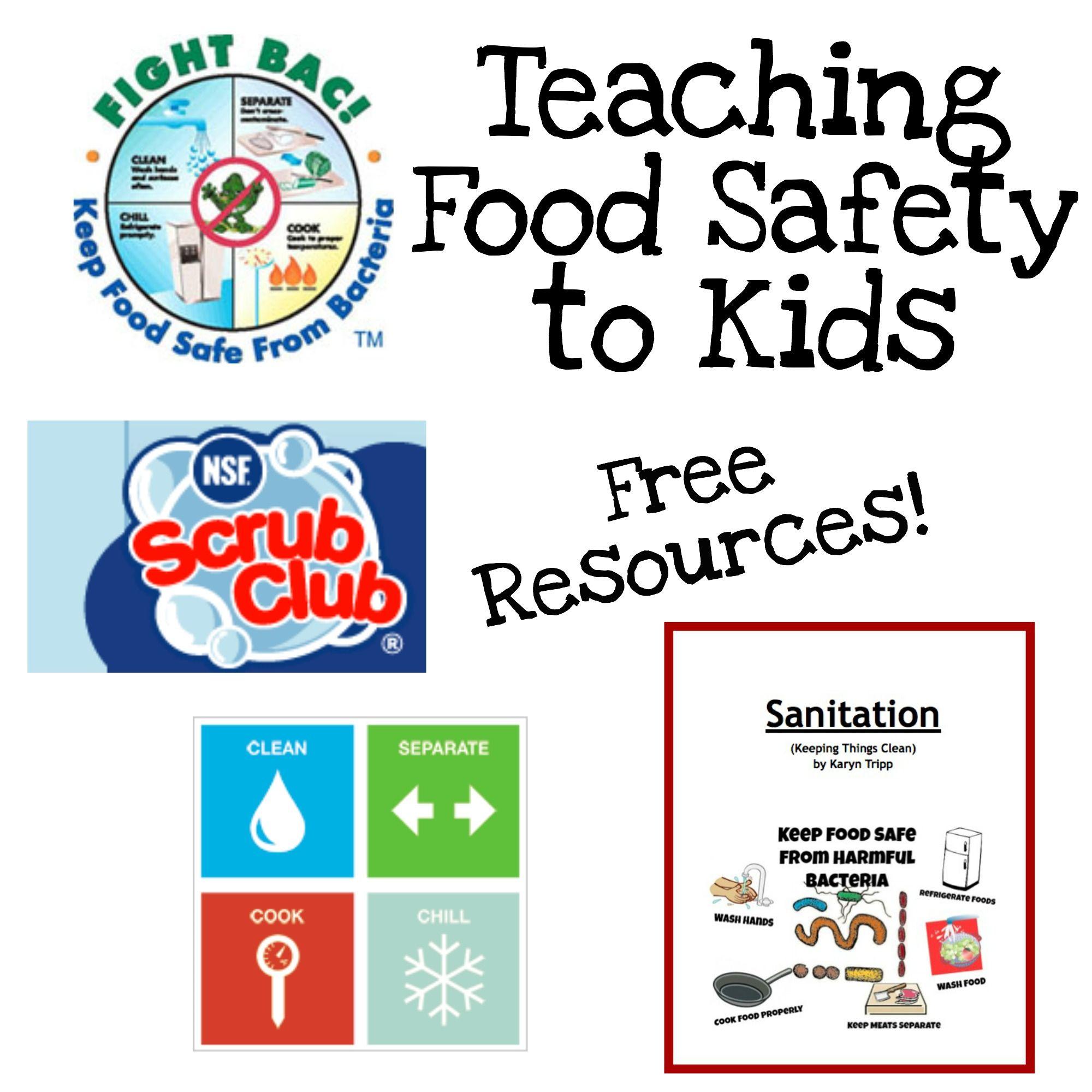 Fun Ways to Teach Food Safety | Culinary home ec | Pinterest | Food ...