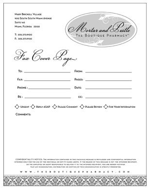 Office Fax Cover Sheet Template | Mortar & Pestle Boutique ...